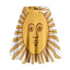 Argentina Sun of May  High Waist Skirt