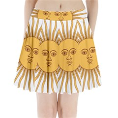 Argentina Sun of May  Pleated Mini Mesh Skirt