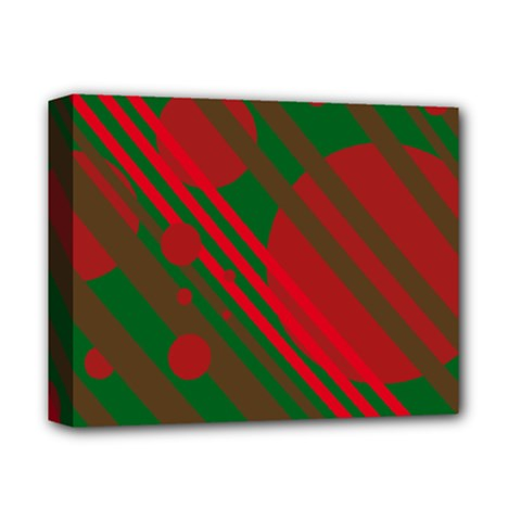 Red and green abstract design Deluxe Canvas 14  x 11