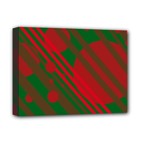 Red and green abstract design Deluxe Canvas 16  x 12