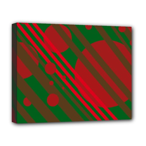 Red and green abstract design Deluxe Canvas 20  x 16