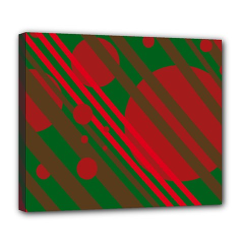 Red and green abstract design Deluxe Canvas 24  x 20