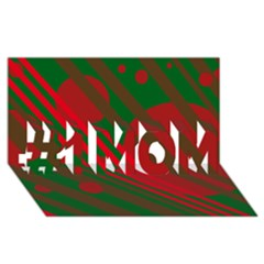 Red and green abstract design #1 MOM 3D Greeting Cards (8x4)