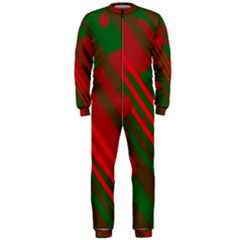 Red and green abstract design OnePiece Jumpsuit (Men)