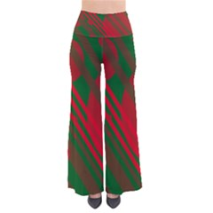 Red and green abstract design Pants