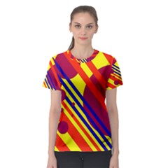 Hot circles and lines Women s Sport Mesh Tee