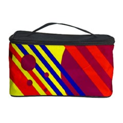 Hot circles and lines Cosmetic Storage Case