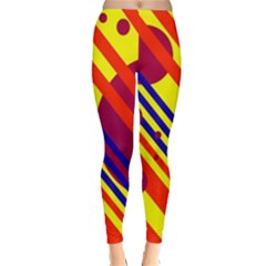 Hot circles and lines Winter Leggings