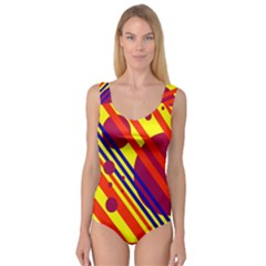 Hot circles and lines Princess Tank Leotard