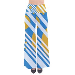 Blue, Yellow And White Lines And Circles Pants