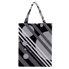 Gray lines and circles Classic Tote Bag
