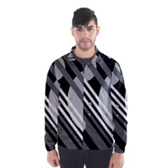 Gray lines and circles Wind Breaker (Men)