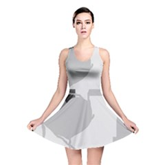 Gray hart Reversible Skater Dress