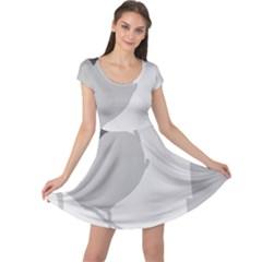 Gray hart Cap Sleeve Dresses