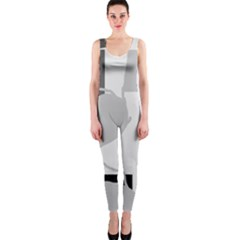 Gray hart OnePiece Catsuit