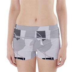 Gray hart Boyleg Bikini Wrap Bottoms