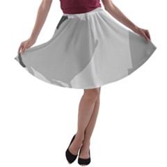 Gray hart A-line Skater Skirt