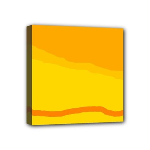 Yellow decorative design Mini Canvas 4  x 4