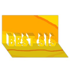 Yellow decorative design BEST SIS 3D Greeting Card (8x4)
