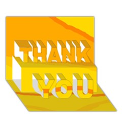 Yellow decorative design THANK YOU 3D Greeting Card (7x5)