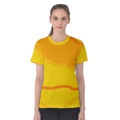 Yellow decorative design Women s Cotton Tee