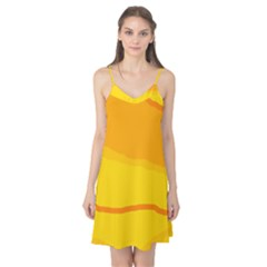 Yellow decorative design Camis Nightgown