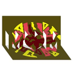 Abstract design MOM 3D Greeting Card (8x4)
