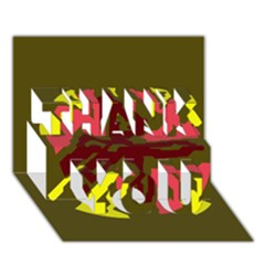 Abstract design THANK YOU 3D Greeting Card (7x5)