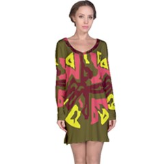 Abstract design Long Sleeve Nightdress