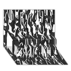 Black And White Elegant Pattern You Did It 3d Greeting Card (7x5)