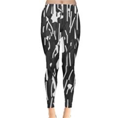 Black and white elegant pattern Leggings