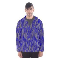 Plue decorative pattern  Hooded Wind Breaker (Men)
