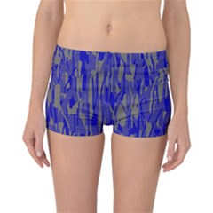 Plue decorative pattern  Reversible Boyleg Bikini Bottoms