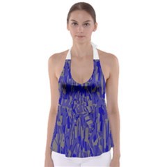 Plue Decorative Pattern  Babydoll Tankini Top