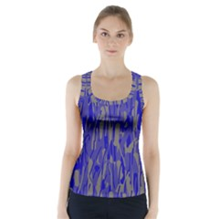 Plue decorative pattern  Racer Back Sports Top