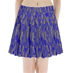 Plue Decorative Pattern  Pleated Mini Mesh Skirt