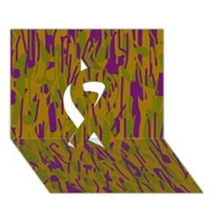 Decorative pattern  Ribbon 3D Greeting Card (7x5)
