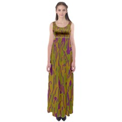 Decorative pattern  Empire Waist Maxi Dress
