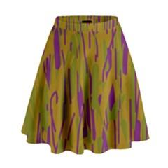 Decorative pattern  High Waist Skirt