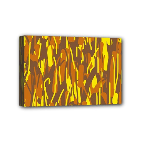 Yellow pattern Mini Canvas 6  x 4