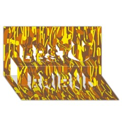 Yellow pattern Best Friends 3D Greeting Card (8x4)