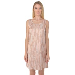 Pink pattern Sleeveless Satin Nightdress