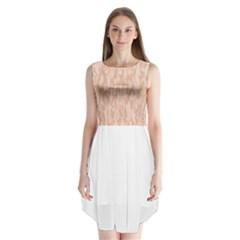 Pink pattern Sleeveless Chiffon Dress