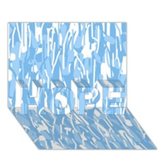 Blue pattern HOPE 3D Greeting Card (7x5)
