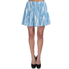 Blue pattern Skater Skirt