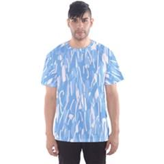 Blue pattern Men s Sport Mesh Tee