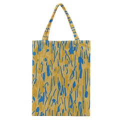 Yellow and blue pattern Classic Tote Bag