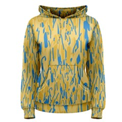 Yellow and blue pattern Women s Pullover Hoodie