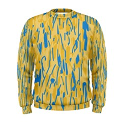 Yellow and blue pattern Men s Sweatshirt