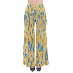 Yellow And Blue Pattern Pants